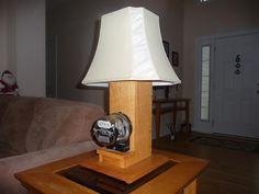 Man cave electric meter lamp