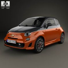 Fiat 500 Abarth 595 Turismo 2014 3d model from humster3d.com. Price: $75