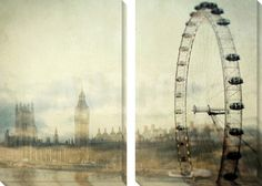 London Canvas Art Set by Irene Suchocki at Art.com