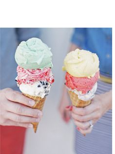 An Ice Cream Date. Photo by Max Wanger. Banana Republic Magazine February 2013 Issue