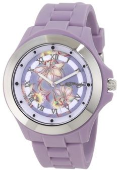Ed Hardy Women's MT-PU Mist Purple Watch - In 2004, Christian Audigier used the tattoo designs of Don Ed Hardy to inspire his world renowned Ed Hardy brand. The huge celebrity following of Ed Hardy has made it easily one of the world's most recogni