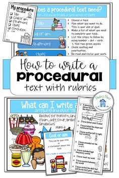 Print these posters and rubrics to get your students writing procedural texts. The pack contains rubrics, planners and lined pages to use. #proceduraltexts #proceduralposters #proceduralrubrics #proceduralplanners Writing Posters, Writing Genres, Writing Strategies, Writing Resources, Teaching Writing, Procedural Text, Text Types, Lists To Make, How To Get