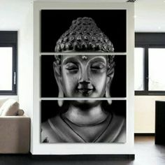 buddha decor Buddha 3 Piece Canvas Wall Decor No. Style: Classical Material: Canvas Subject: Buddha Type: Canvas Printing Shape: Square Frame: With Frame Size Framed: Canvas Wall Decor, Home Decor Wall Art, Wall Art Prints, Framed Artwork, Buddha Wall Art, Buddha Painting, Buddha Canvas, Buddha Head, Painting Canvas