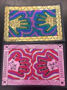 2nd Grade Henna Hands from India