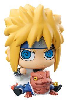 Naruto Shippuden tirelire avec figurine ChimiMega Minato and Gamabunta Megahouse