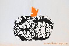 Pumpkin applique no sew halloween fall DIY by peanutbearys on Etsy, $5.00