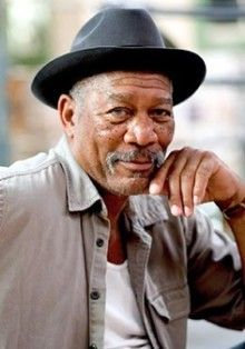 Morgan Freeman, not exactly one I'd call yummy......but his voice is incredibly smooth and calming! I could listen to him talk all day!