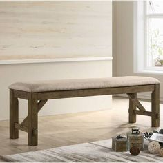 Rustic Wood Bench, Wood Dining Bench, Wood Storage Bench, Upholstered Storage Bench, Extendable Dining Table, Dining Table In Kitchen, Dining Furniture, Wooden Benches, Mid Century Dining