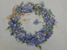 ru / All albums of user tymannost- Gallery.ru / All albums… - Embroidery Motifs, Hand Embroidery Designs, Cross Stitch Flowers, Cross Stitch Patterns, Marjolein Bastin, Running Stitch, Hanging Wall Art, Flower Tutorial, Beautiful Roses