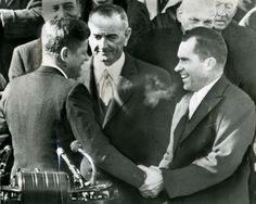 I have wondered since I first saw this photo what these three men thought when this moment happened. It is obvious that JFK did rig the election. So when he shook the hand of Nixon on his Inauguration, I always thought what they thought in their heads. Like JFK: I stole this election. Nixon: You stole this election. LBJ: Hurry up, I am starving. To #kennedy63, no this photo is not photoshopped. You can actually watch this happen on the Inauguration day after JFK is sworn in, so I am sorry…