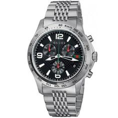 Gucci Watches - Shop designer fashion at Tradesy and save 70% off or more on fashion accessories. Stainless Steel Bracelet, Stainless Steel Case, Gucci Watches For Men, Gucci Men, Khaki Green, Watch Case, Vintage Gucci, Link Bracelets, Chronograph