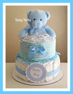 2 Tier Boy Diaper cakes Blue Baby 1st Teddy 1 Receiving Blanket Used with 35+ Size 1 Pampers Orders are Shipped 1-3 Business Days After Payment is Received If you Pay With a e-check , Payment takes up to 5days to Clear and Order will NOT Ship Until Check clears If You need This Order within 5-7 business days Please Contact me 1st To make Sure it will get to you in time Or Additional Charge For Faster Delivery If you Are in a Rural Area Shipping Time Is up to 8 Business Days Or Additional…