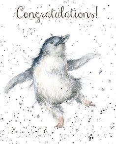 Penguin Congratulations Card - Wrendale Designs
