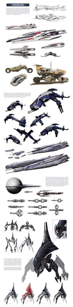 Mass Effect universe - ships and vehicles by SupermanLovesAspen.deviantart.com on @DeviantArt