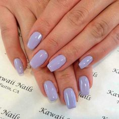Light purple uv gel nails