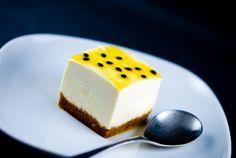 passionfruit tofu cheesecake    http://www.zencancook.com/2010/04/passion-fruit-tofu-cheesecake/