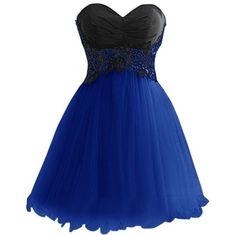 Dresstells Women's Short Birthday Dress Prom Dress with Lace ($108) ❤ liked on Polyvore featuring dresses, lullabies, blue prom dresses, short blue dresses, lace cocktail dress, prom dresses and short cocktail dresses