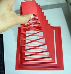 Paper Pyramid , How to make a pop up paper pyramid