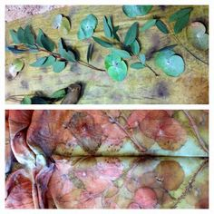 eco print natural dye scarf project