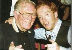Richard Winters of Easy Company with Damien Lewis... Band of Brothers