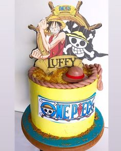 ONE PIECE -Cake idea for people who love the Anime - Cocomew is to share cute outfits and sweet funny things Anime Wedding, Geek Wedding, Wedding Ideas, One Piece Theme, Anime Cake, Bithday Cake, Food Hub, Hello Kitty Cake, Its My Bday
