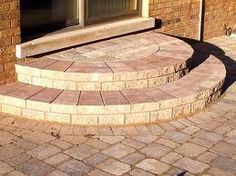 Best Half Moon Steps Interlocking Paver Patios Driveways 400 x 300