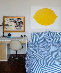 blue + yellow is the happiest color combo. via apartment therapy