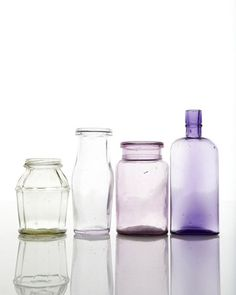 old glass bottles. I collect these