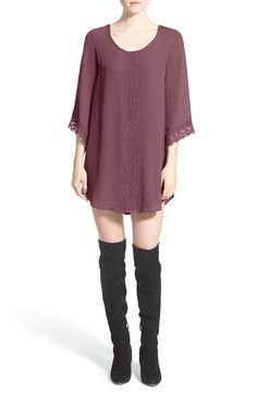 ASTR Lace Trim Shift Dress available at #Nordstrom