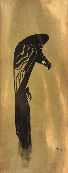 De'Von Stubblefield ~ Bird of Prey Character Illustration, Illustration Art, Comic, Animal Sketches, Character Design References, Creature Design, Animal Design, Bird Art, Pet Birds