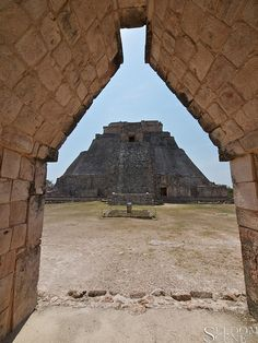 Pyramid of the Magician. Mayan site of Uxmal, Mexico.  700 and 1000 AD. Seldom Scene Photography
