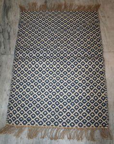 Antique Hand Woven Flat Weave Kilim Area Rug Runner Door Floor Mat 60x91cm #Turkish