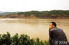 The banks of the Yellow River in Qikou.