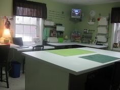 the little green bean: Craft room complete & a tutorial for a metal wall board.