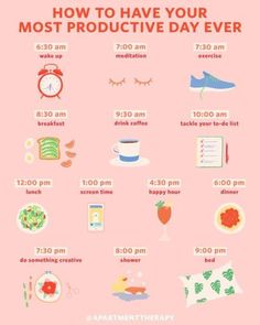 An Hour-by-Hour Roadmap to Your Most Productive Day Ever If your daily routine c. An Hour-by-Hour Roadmap to Your Most Productive Day Ever If your daily routine c. Check more at yoga. Wellness Tips, Health And Wellness, Health Tips, Health Fitness, Mental Health, Brain Health, Fitness Plan, Fitness Challenges, Fitness Hacks