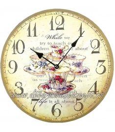 "Ceas de perete ""Tea Time"" Clock, Wall, Decor, Watch, Decoration, Clocks, Decorating, Deco, Embellishments"