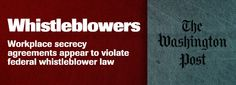 Agreements may discourage fraud reports - Whistleblowers   Investigative Reporting Workshop