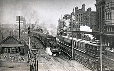 Train leaving Newcastle for Belmont, NSW, [n.d.] by Cultural Collections, University of Newcastle