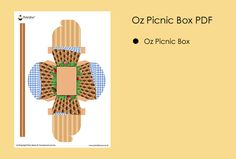 Printable Templates Oz Picnic Basket Box