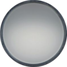 Shoreline Black with White Paint 26-Inch Mirror