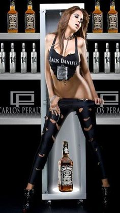 Sexy jack daniels girl graphics