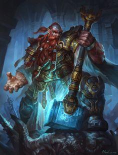 ArtStation - Dwarf Cleric, Hua Lu