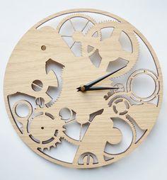 Laser+cut+watch+mechanism+clock.+by+DomusDecorClocks+on+Etsy,+£35.00