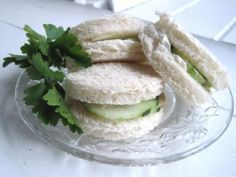Cucumber sandwiches...mmmm!!!