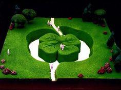 Inaugurazione dell'opera di arte ambientale Trefle