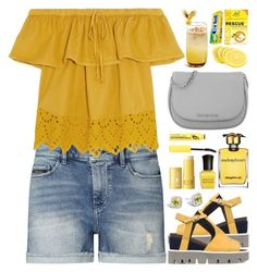 """""""The Cutest Summer Top"""" by rasa-j ❤ liked on Polyvore featuring Calvin Klein, Madewell, Strategia, Michael Kors, Strangelove NYC, John Hardy, Clinique and Deborah Lippmann"""