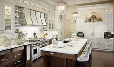 Not this look - Downsview Transitional Kitchen - Traditional - Kitchen - New York - St. Clair Kitchen & Home by Antoinette Fraser Custom Kitchen Cabinets, Custom Cabinetry, White Cabinets, Upper Cabinets, Walnut Cabinets, Pantry Cabinets, Wood Cabinets, Elegant Home Decor, Elegant Homes