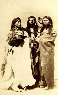 Three Paiute women.  Salt Lake City, Utah. 1860s
