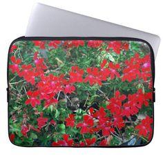 Bright Red Flowers Computer Sleeve http://www.zazzle.com/bright_red_flowers_computer_sleeve-124236469328778915?utm_content=buffer59e70&utm_medium=social&utm_source=pinterest.com&utm_campaign=buffer #flowers #laptopsleeve