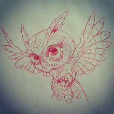 Owl tattoo sketch by Roman V. Moños Tattoo, Buho Tattoo, Tattoo Flash, Tattoo Sketches, Tattoo Drawings, Art Drawings, Owl Tattoo Design, Tattoo Designs, Tattoo Ideas